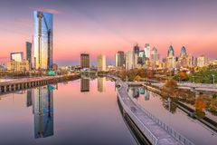 Philadelphia, Pennsylvania, USA Skyline royalty free stock photos