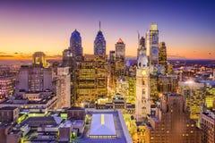 Philadelphia Pennsylvania, USA horisont Arkivfoto