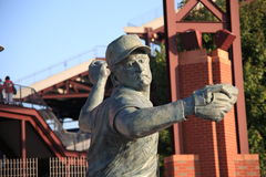 Philadelphia Phillies - Citizens Bank Park. Statue of pitcher Steve Carlton located outside Citizens Bank Park, home of the Philadelphia Phillies stock photos