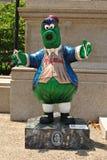 Philadelphia Phillies Phanatic statue. New tourist attraction - one of twenty statues of the Philadelphia Phillies mascot, the Phanatic, outside of a museum stock photography