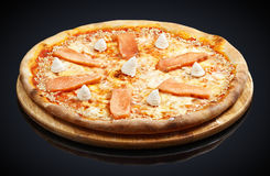 Philadelphia Pizza mozzarella, smoked salmon, cream cheese Stock Photo