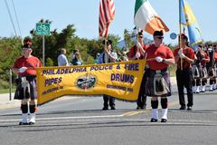 Philadelphia police and Fire Pipe and Drums Stock Photography