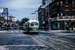 Philadelphia PTC PCC-spårvagn #2760, i 1965 Fotografering för Bildbyråer