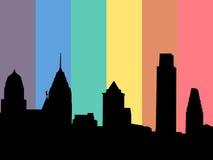 Philadelphia with rainbow flag Royalty Free Stock Photos