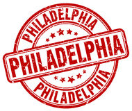 Philadelphia red grunge round stamp Stock Images