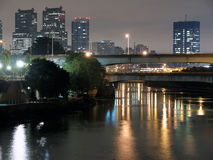 Philadelphia River Night Royalty Free Stock Photo