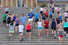 Philadelphia Rocky Steps Stock Photo