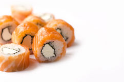 Philadelphia Roll. Made of Cream Cheese Royalty Free Stock Photography