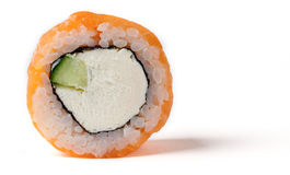 Philadelphia roll with a cucumber Royalty Free Stock Photography