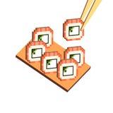 Philadelphia rollt isometrisches Vektor Abbildung