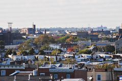 Philadelphia rooftops Royalty Free Stock Photos