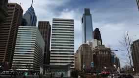 Philadelphia's city center buildings stock video footage
