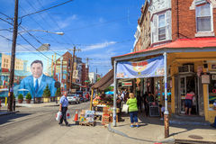 Philadelphia's Italian market Royalty Free Stock Photos