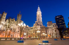 Philadelphia's landmark historic City Hall building Royalty Free Stock Photos