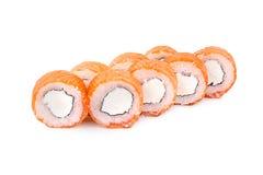 Philadelphia . Salmon, Philadelphia cheese. On white Royalty Free Stock Photo
