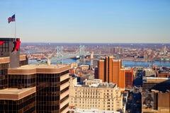 Philadelphia sikt från höjden Arkivbilder