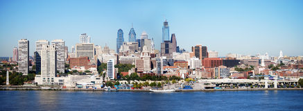 Philadelphia Skyline. On a clear day from New Jersey Royalty Free Stock Image