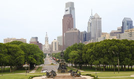 Philadelphia skyline in the afternoon, Pennsylvania Stock Photos