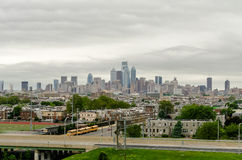 Philadelphia Skyline. In daylight, USA royalty free stock images