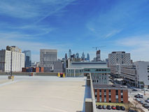 Philadelphia Skyline. The downtown Philadelphia, Pennsylvania skyline from the top of a parking garage near U Penn Royalty Free Stock Photography
