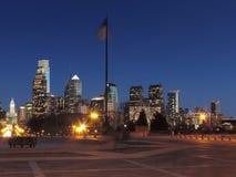 Philadelphia Skyline at Dusk Royalty Free Stock Photography