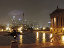 Philadelphia Skyline at Night Stock Photo