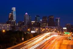Philadelphia skyline by night - Pennsylvania - USA Royalty Free Stock Image