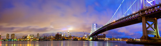 Philadelphia skyline panorama Royalty Free Stock Photography