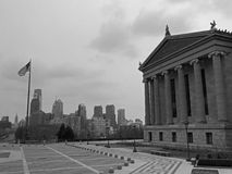 Philadelphia Skyline. The skyline of Philadelphia, Pennsylvania on an overcast day from the Museum of Art Royalty Free Stock Photo