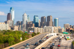 Philadelphia-Skyline - Pennsylvania - USA - Vereinigte Staaten von Ame Stockbilder