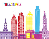 Philadelphia skyline pop Stock Image