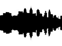 Philadelphia skyline reflected Stock Photography