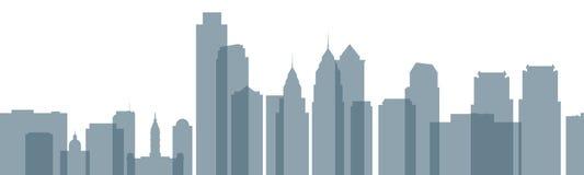 Philadelphia Skyline. Skyline silhouette of the city of Philadelphia, Pennsylvania, USA Royalty Free Stock Image