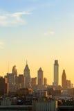 Philadelphia skyline at sunset Royalty Free Stock Image