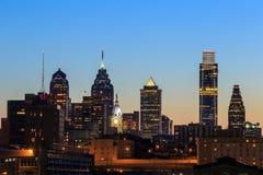 Philadelphia skyline at sunset Stock Image