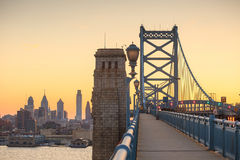 Philadelphia skyline at sunset Royalty Free Stock Photography