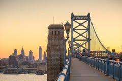Philadelphia skyline at sunset Royalty Free Stock Photography