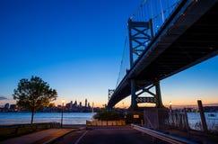 Philadelphia skyline at sunset Royalty Free Stock Images