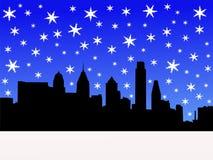Philadelphia skyline in winter Stock Photos