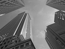 Philadelphia Skyscrapers black and white Royalty Free Stock Photos