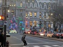 Philadelphia stad Hall Christmas arkivfoton
