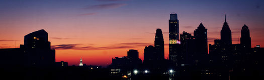 Philadelphia Sunrise Royalty Free Stock Photo