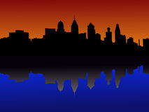 Philadelphia at sunset Stock Images
