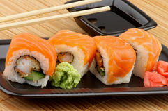 Philadelphia Sushi Stock Photo