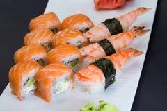 Free Philadelphia Sushi Roll And Shrimp Nigiri Royalty Free Stock Photos - 34621588