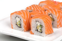 Philadelphia sushi roll. Close-up of Philadelphia sushi roll Stock Photo