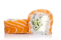 Philadelphia sushi roll isolated Stock Images