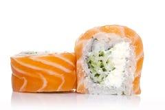 Philadelphia sushi roll isolated Stock Images