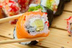 Philadelphia sushi roll Stock Photo