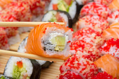Philadelphia sushi roll Royalty Free Stock Photography